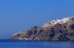 Landscape with Oia town Stock Photos
