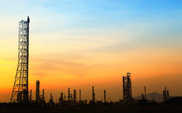 Landscape oil refinery Royalty Free Stock Photo