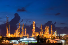 Landscape of oil refinery industry or petroleum industry with oi Stock Image
