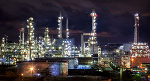 Landscape of oil refinery industry Stock Images