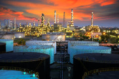 Landscape of oil refinery industry Stock Image