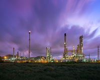 Landscape of oil refinery industry Royalty Free Stock Images