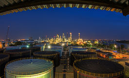 Landscape of oil refinery industry Stock Photo