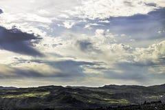 Landscape oil. Sicilian landscape, like oil painting on canvas stock photos