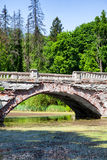 Landscape old abandoned bridge Royalty Free Stock Image