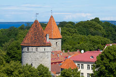 Landscape old city town in Tallinn Royalty Free Stock Photos