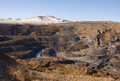 Landscape of an old coal mine Royalty Free Stock Photos