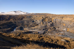 Landscape of an old coal mine Stock Photography