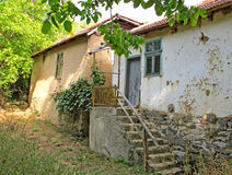 Landscape of old country houses, Serbia Royalty Free Stock Image