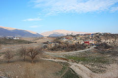 Landscape with the old kurdish town Stock Photography