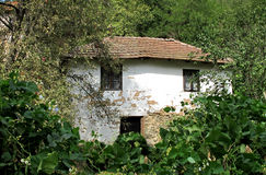 Landscape of an old, lonely mountain house in trees, Serbia Royalty Free Stock Photos