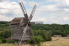 Landscape with an old mill Royalty Free Stock Photos