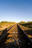 Landscape for a old railway abandoned Royalty Free Stock Images