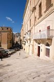 Malta, Valletta, Landscape of the old street. Landscape of the old street in Valletta, Malta, with recognizable and traditional Maltese architecture Stock Image