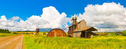 Old style grain elevator in Perm Krai, Russia Royalty Free Stock Photos