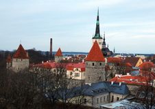 Landscape of the Old Tallinn Stock Image