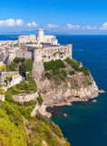 Landscape of old town Gaeta with ancient castle. On hill, Italy Royalty Free Stock Image