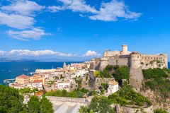 Landscape of old town Gaeta with castle, Italy. Landscape of old town Gaeta with ancient Aragonese-Angevine Castle, Italy Royalty Free Stock Photo