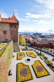 Landscape of old town at Lausanne, Switzerland 2 Royalty Free Stock Photo
