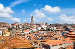 Landscape of old town of Porto, Portugal. royalty free stock photography