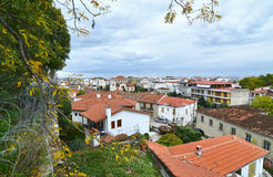 Landscape of the old town Varousi Trikala Greece Stock Image