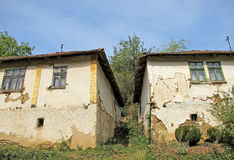 Landscape of old, traditional, folk village architecture, Serbia Stock Image