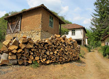 Landscape of old, traditional, mountain architecture, Serbia royalty free stock images