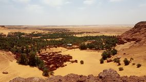 Landscape of old village in Sahara royalty free stock images