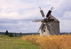 Landscape with old windmill Royalty Free Stock Photography