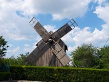 Landscape of Old Windmill at Saon Monastery, Tulcea, Dobrogea stock photos