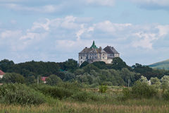 Landscape with Olesko Castle Stock Image