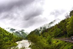 Landscape of Olt Valley mountain Royalty Free Stock Photography