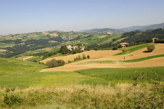 Landscape in the Oltrepo Pavese (Italy) Stock Image
