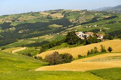 Landscape in the Oltrepo Pavese (Italy) royalty free stock photos