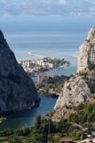 Landscape of Omis. Summer landscape of Omis Croatia royalty free stock photos