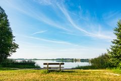 Landscape On A Lake In Potzlow, Germany Stock Photography