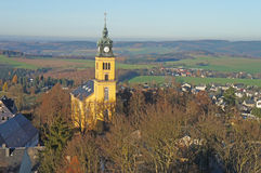 Landscape in the Ore Mountains, Germany Stock Photography