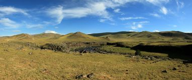 Landscape of Orkhon Valley Mongolia Stock Image