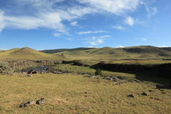 Landscape of Orkhon Valley Mongolia Royalty Free Stock Image