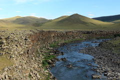 Landscape of Orkhon Valley Mongolia. The landscape of Orkhon Valley Mongolia Stock Photos