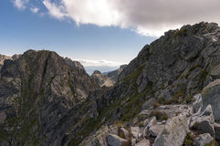 Landscape of Orla Perc most difficult trail in the High Tatra Mo Stock Photography
