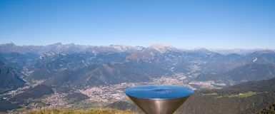 Landscape at the Orobie Alps in a clear and blue day. Landscape from Pizzo Formico Mountain, Bergamo, Italy. Landscape at the Orobie Alps. Landscape from Pizzo royalty free stock image