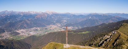 Landscape at the Orobie Alps in a clear and blue day. Landscape from Pizzo Formico Mountain, Bergamo, Italy. Landscape at the Orobie Alps. Landscape from Pizzo stock images