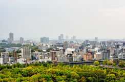 Landscape of Osaka city, Japan Royalty Free Stock Images