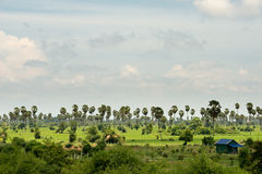 Landscape of Oudong, Cambodia Stock Photography