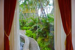 The landscape outside the window Stock Photos
