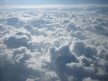 Landscape over the clouds. Veiw of clouds from airplane Royalty Free Stock Photos
