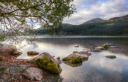 Landscape over Llyn Cwellyn in Snowdonia Stock Photos
