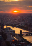 Landscape over London Royalty Free Stock Photography