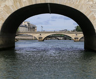 The landscape over senie river,paris Stock Image